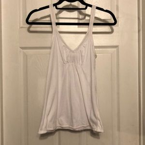 White Tank with Front and Strap Detailing